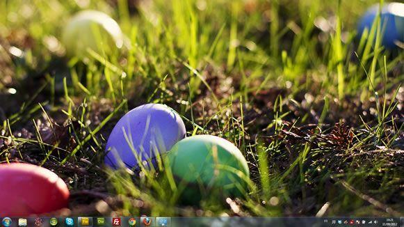 Capture d'écran - Oeufs décorés, thème visuel officiel Windows 7