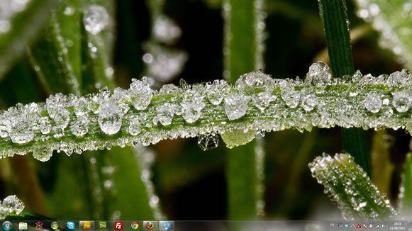 Capture d'écran - Macros de givre, thème visuel officiel Windows 7