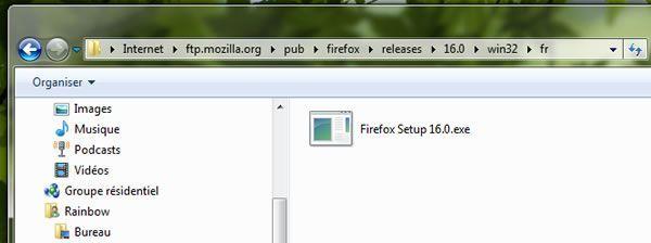 Capture d'écran - FTP de Mozilla Firefox