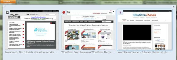 Capture d'écran - Groupes d'onglets sous Firefox