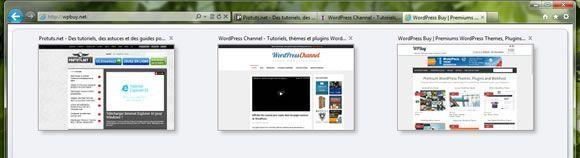 Capture d'écran - Aperçu mosaïque d'Internet Explorer