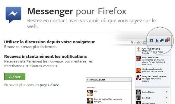 Capture d'écran - Messenger pour Firefox 17