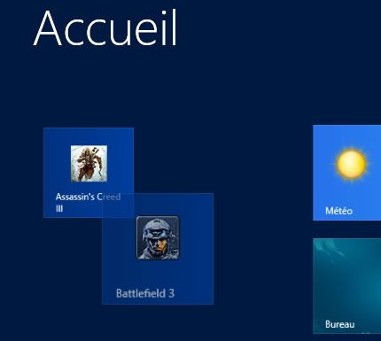 Capture d'écran - Création d'un groupe de tuile sous Windows 8