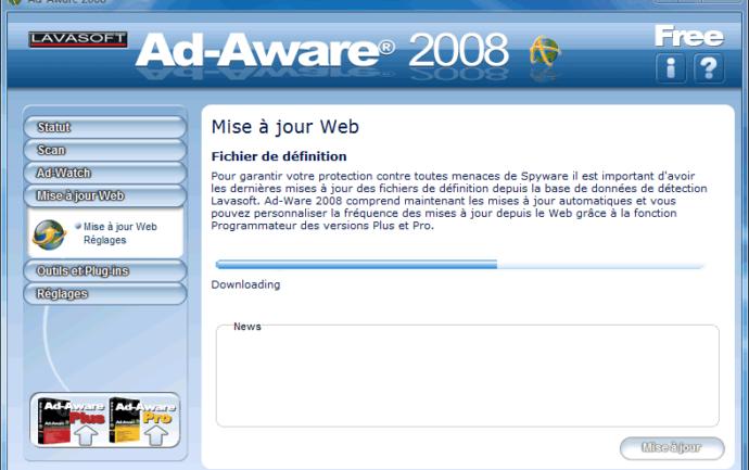 Recherche des mises à jour pour Ad-Aware