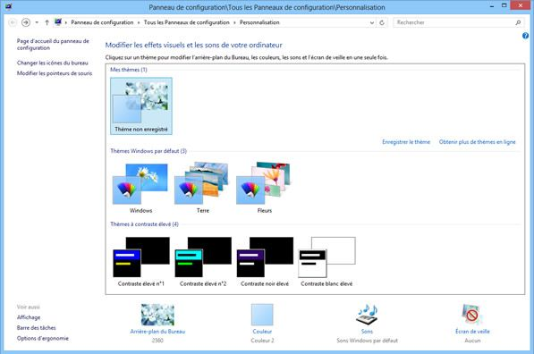 Capture d'écran - Personnalisation, Windows 8