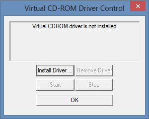 Capture d'écran - Installation du driver, Virtual CD Tool