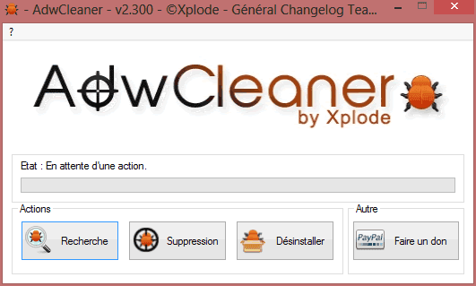Capture d'écran - AdwCleaner