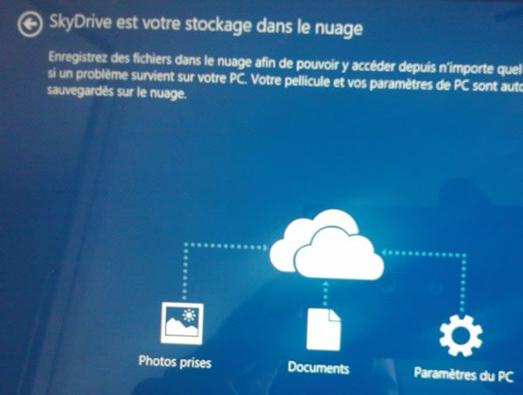 Capture d'écran - Connexion à SkyDrive, Windows 8.1