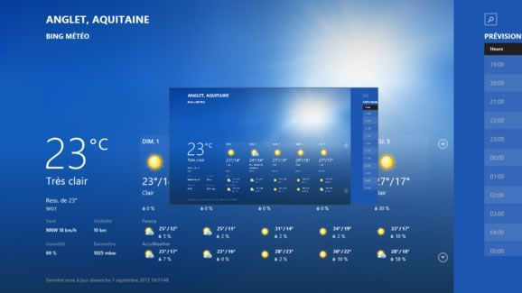Capture d'écran - Fermeture définitive de l'application Météo de Windows 8.1