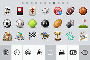 Capture d'écran - Clavier emoji (émoticônes) sous iOS 7
