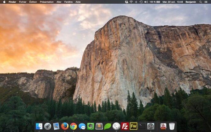 Capture d'écran - Thème Dark MacOS X Yosemite