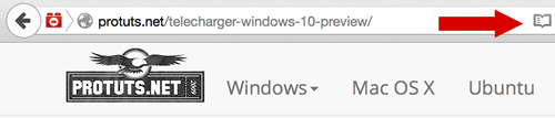 Capture d'écran - Mode lecture dans Firefox