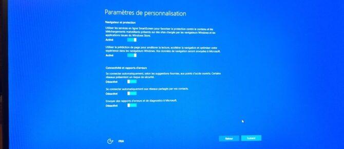 Capture d'écran - Mise à niveau en cours - Installation de Windows 10 Pro