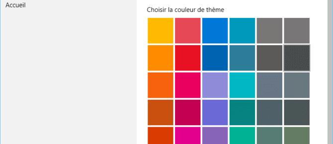Capture d'écran - Options des couleurs, Windows 10