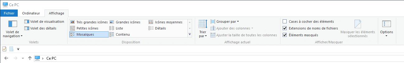 Capture d'écran - Explorateur Windows 10