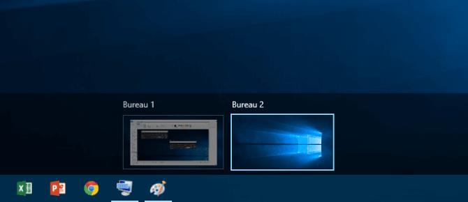 Capture d'écran - Bureaux virtuels sous Windows 10