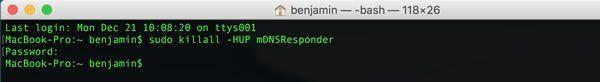 Capture d'écran - Terminal MacOS X