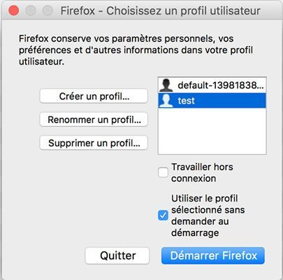 cr er renommer et supprimer un profil utilisateur firefox sous macos x. Black Bedroom Furniture Sets. Home Design Ideas