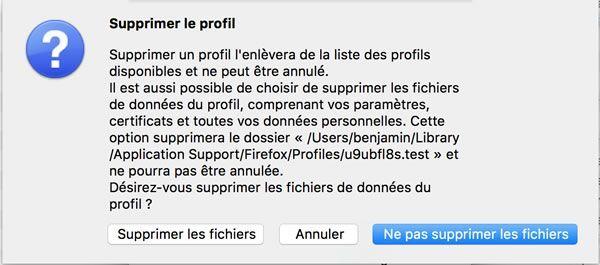 Capture d'écran - Gestion des profils utilisateurs Firefox