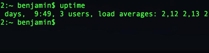 Capture d'écran - Terminal de MacOS Sierra