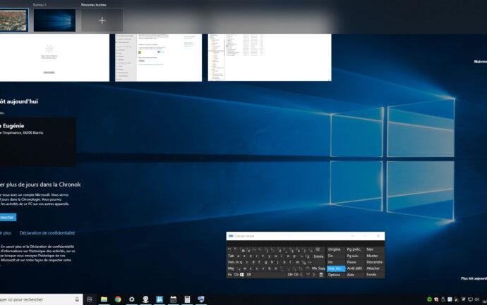 Capture d'écran - Timeline de Windows 10
