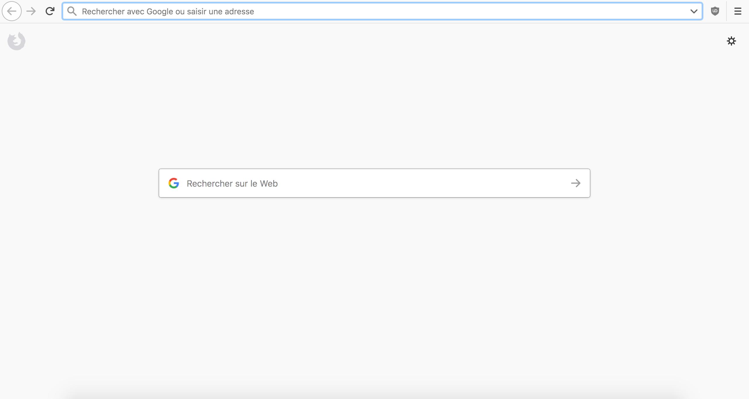 Capture d'écran - Ecran d'accueil de Firefox personnalisé