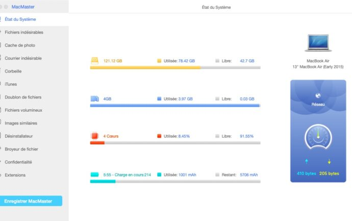 FonePaw MacMaster - Etat du système
