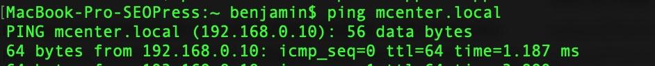 Capture d'écran - Terminal, MacOS