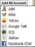 Capture d'écran - Digsby, ajout d'un compte de messagerie instantannée