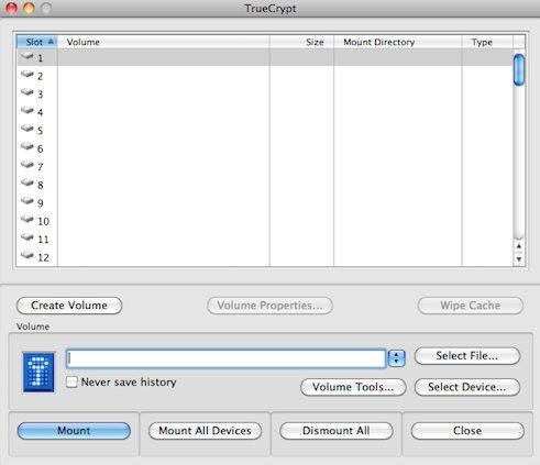 Capture d'écran - TrueCrypt, création du volume