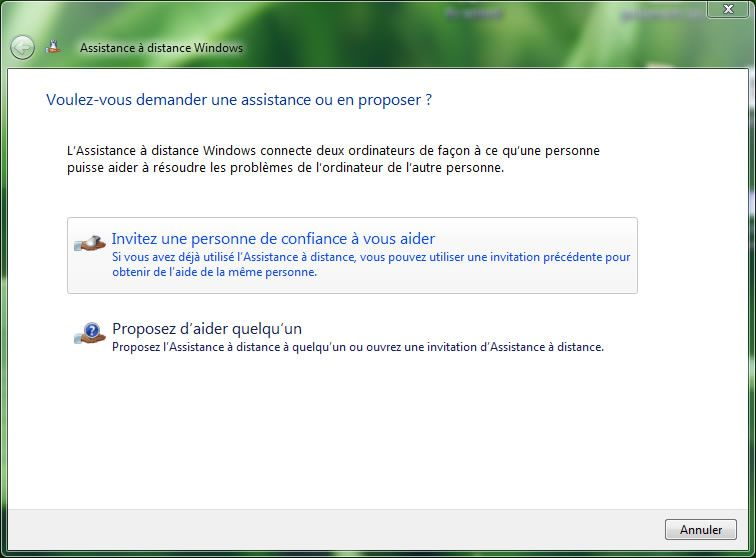Capture d'écran - Windows Vista, Aide et support Windows