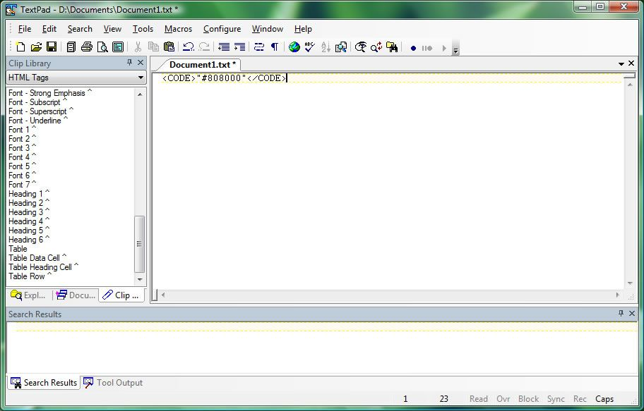 Capture d'écran - TextPad