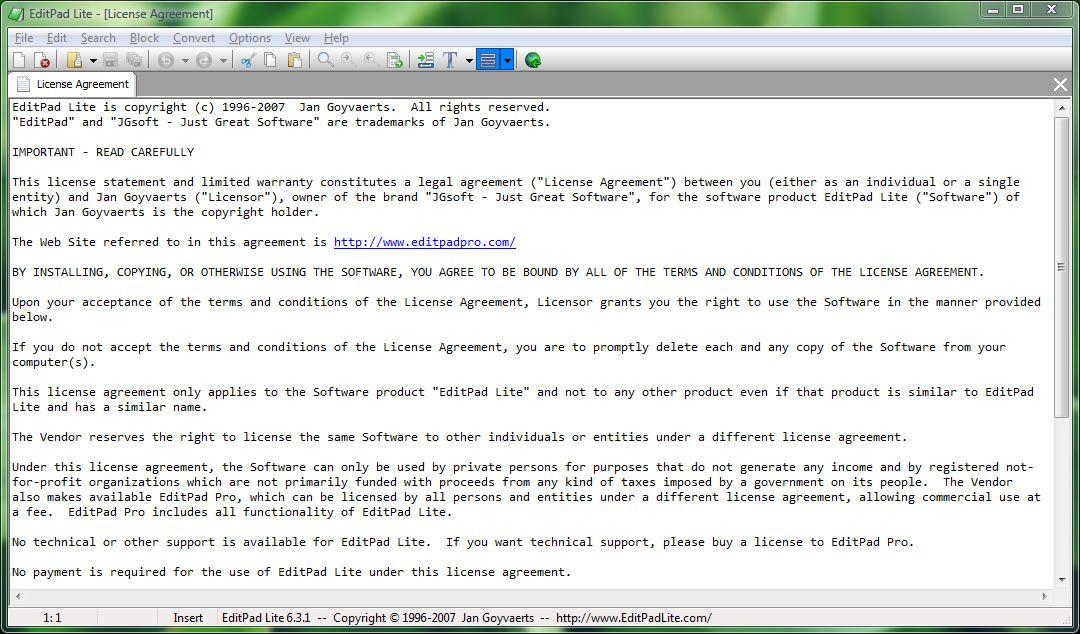 Capture d'écran - EditPad Lite