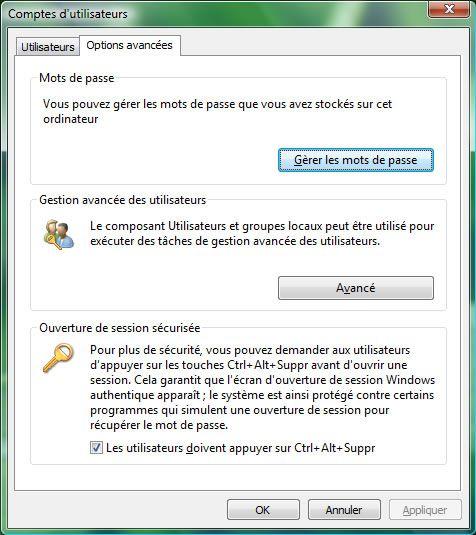 Capture d'écran - Gestion des comptes d'utilisateurs