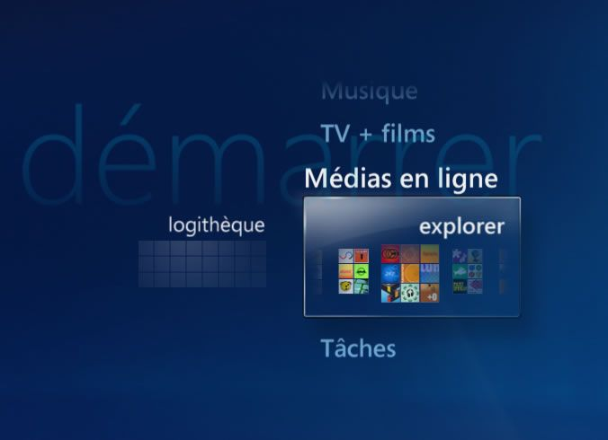 Capture d'écran - Windows Media Center, service eTeacher
