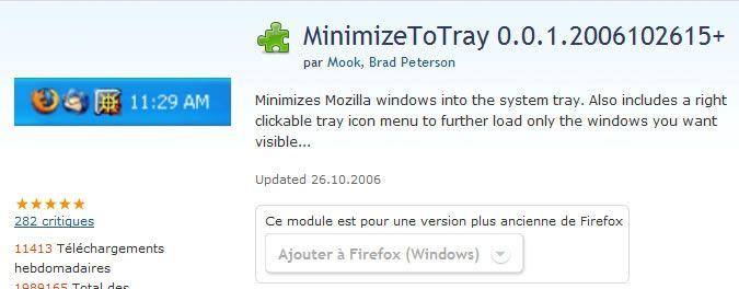 Capture d'écran - Site officiel des Add-Ons Mozilla