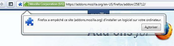 Capture d'écran - Autoriser Firefox 4 IU Fixer