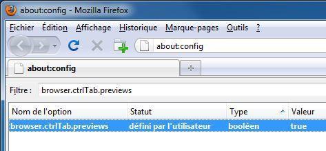 Capture d'écran - Firefox 3.6, modification d'une entrée dans le about:config