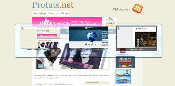 Capture d'écran - Firefox 3.6, test de la fonctionnalité de changement d'onglets