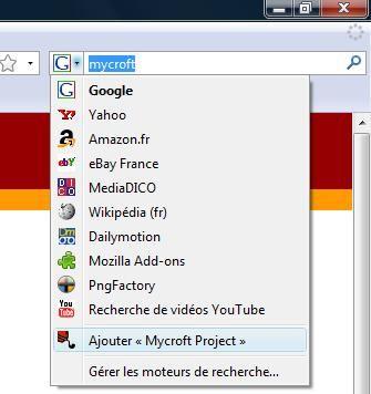 Capture d'écran - Firefox 3, ajout d'un nouveau moteur de recherche
