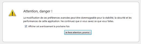 Capture d'écran - Firefox 4, about:config