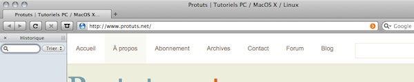 Capture d'écran - Thème Firefox, GrApple Crisp