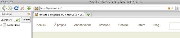 Capture d'écran - Thème Firefox, Stratini Padded