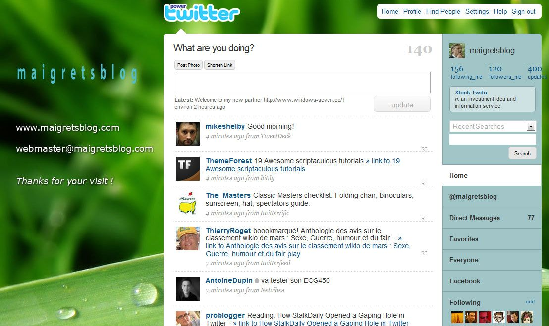 Capture décran - Power Twitter ou comment transformer Twitter en machine de tweets de combat !