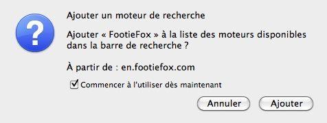 Capture d'écran - FootieFox, options globales