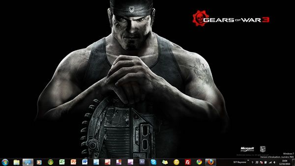 Capture d'écran - Thème Gears of War 3 pour Windows 7