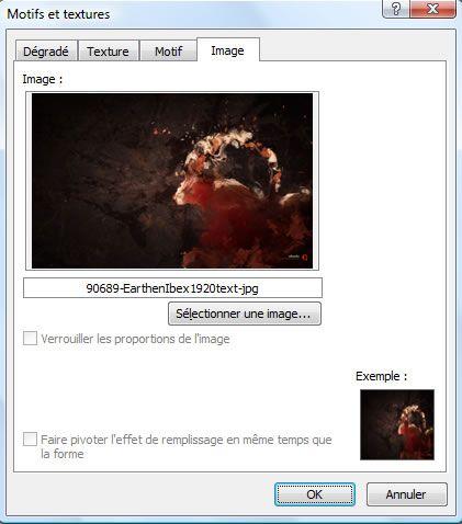 Capture d'écran - Sélection de limage darrière-plan
