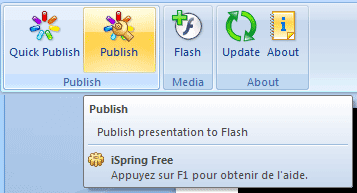 Fonction Publication - Add-on iSpring pour PowerPoint 2007