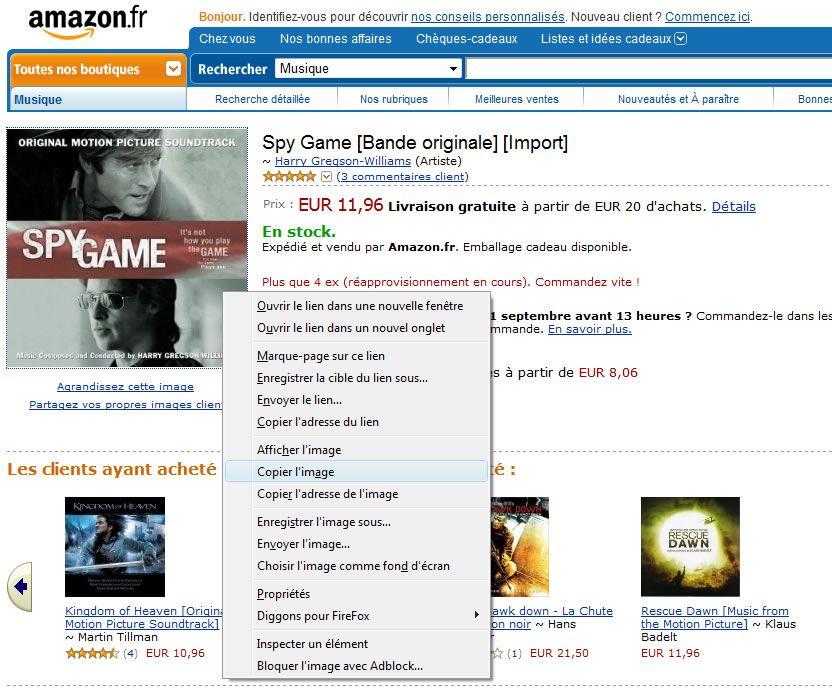 Capture d'écran - Amazon.fr, copie de jaquette