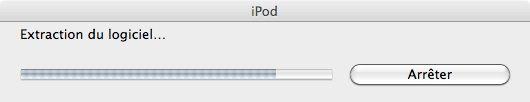 Capture d'écran - Processus de RAZ pour l'iPod touch